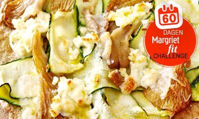 Gezond, lekker en anders! Dit havermoutpizzaatje met gegrilde courgette, oesterzwammen en kaas kan altijd. Wat heb je nodig? 1 courgette 100…