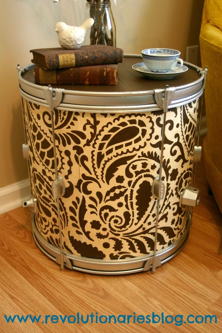 Great craft stenciling project! Love this piece of DIy home decor. Paisley Stencil: https://www.cuttingedgestencils.com/products_search.php?search_category_id=0_string=paisley+allover=Search #stencils #CuttingEdgeStencils #home