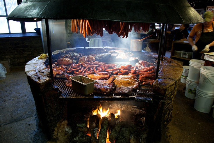 This is the pit at the Salt Lick, in Driftwood, TX.  Possibly the finest Texas BBQ restaurant in the country.