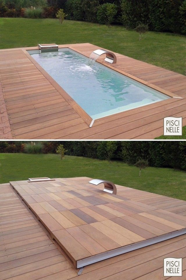 Custom Rolling Deck ausgestattete Pools