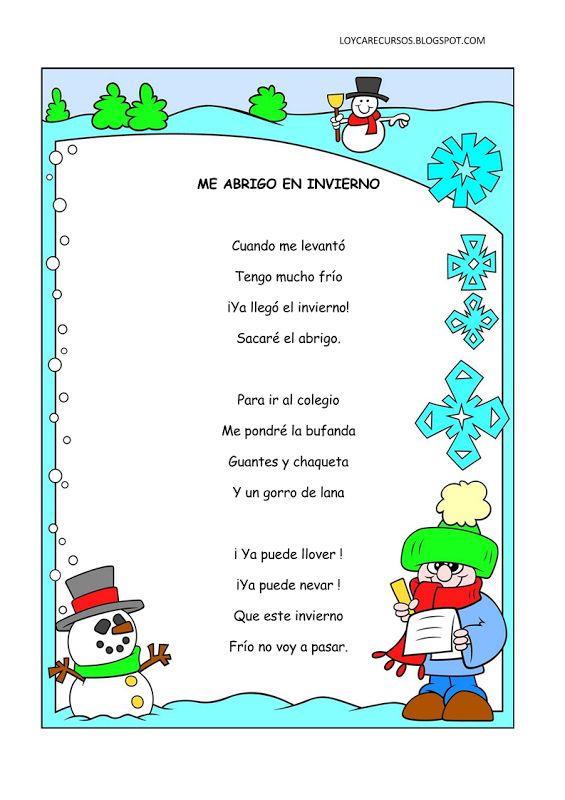Poemas y rimas infantiles del invierno para niños