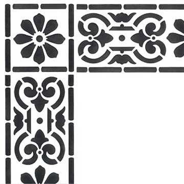 Border Stencils   Classical Border & Corner   Royal Design Studio