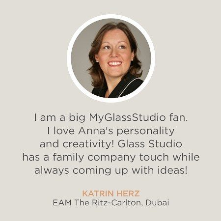 Thank you Katrin Herz for these lovely words about our and The Glass Co's head tableware designer, Anna