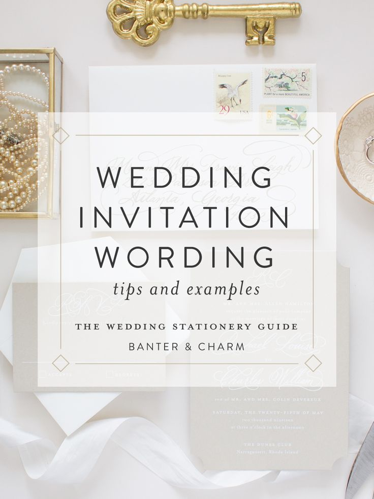 Wedding Stationery Guide Invitation Wording Samples