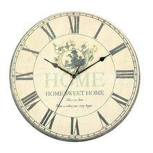 Самая низкая цена большие настенные часы цветок винтаж деревенский дизайн внутренних дел кафе бар декора бесплатная доставка(China (Mainland))