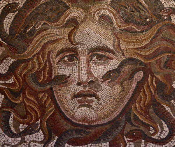 Medusa Baths Of Diocletian Roman Painting And Mosaics