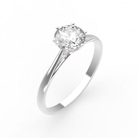 Bague Lady - Or blanc 18 cts, Diamant - Maison Gemmyo