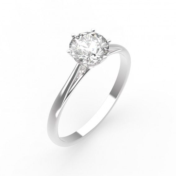 Bague Lady - Or blanc 18 cts, Diamant - Maison Gemmyo