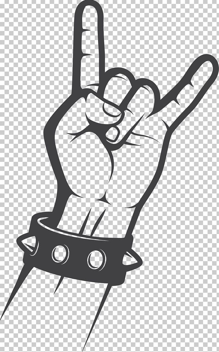 Sign Of The Horns Rock Music Gesture Hand Png Black Black And White Clapping Download Drawing Rock Sign Rock Music Rock Hand Sign