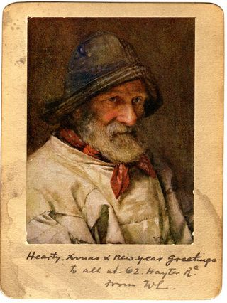 walter langley | ... fisherman with hat photo of painting by walter langley mounted on card