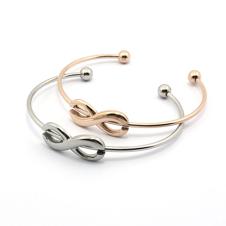 Infinity Bracelet Cuff For Women Infinite Hollow Out Gold Rose Silver Bangles Jewelry Opened Cuff Bangles Bracelets For Women
