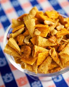 Plain Chicken: Buffalo Ranch Snack Mix {Football Friday}