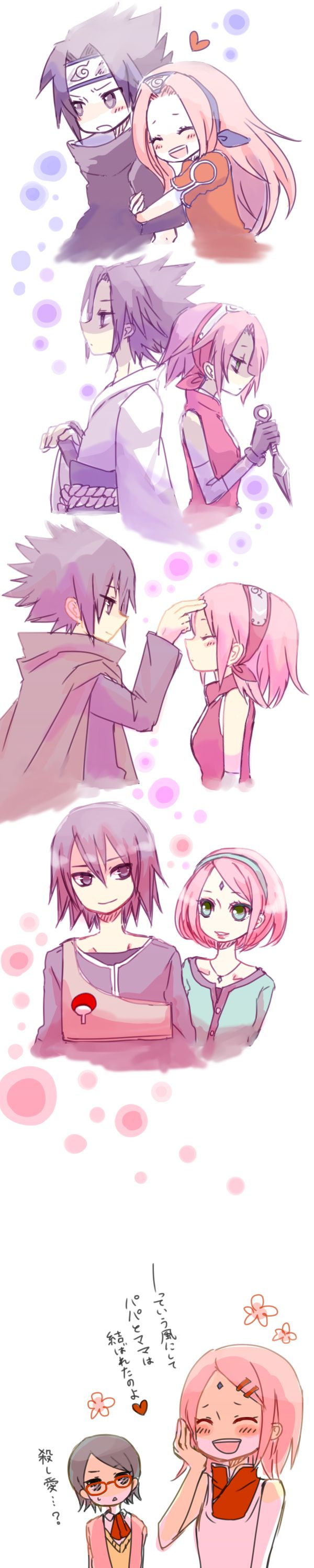 The years of SasuSaku. Sakura. Finally gets what's she's always wanted Sasuke and their very own child to raise together well at least that's what I'd like to think.