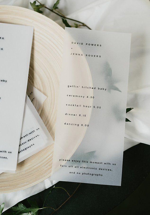 David Jenna A minimalist warehouse wedding