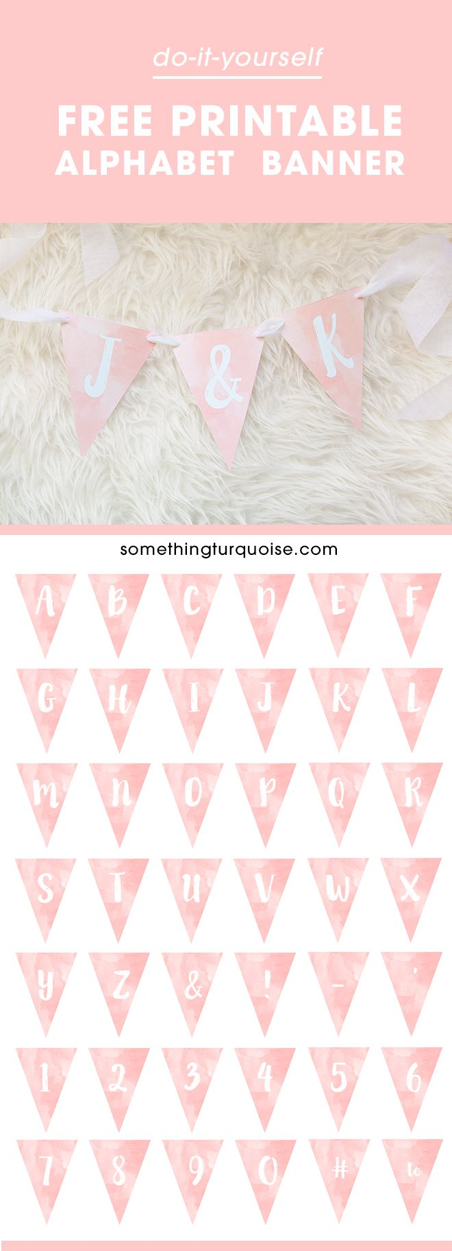 Printable Birthday Banner Letters  InviviewCo