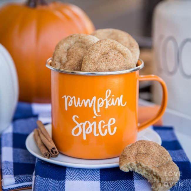 Die besten Chewy Pumpkin Snickerdoodles Cookies – Liebe aus dem Ofen