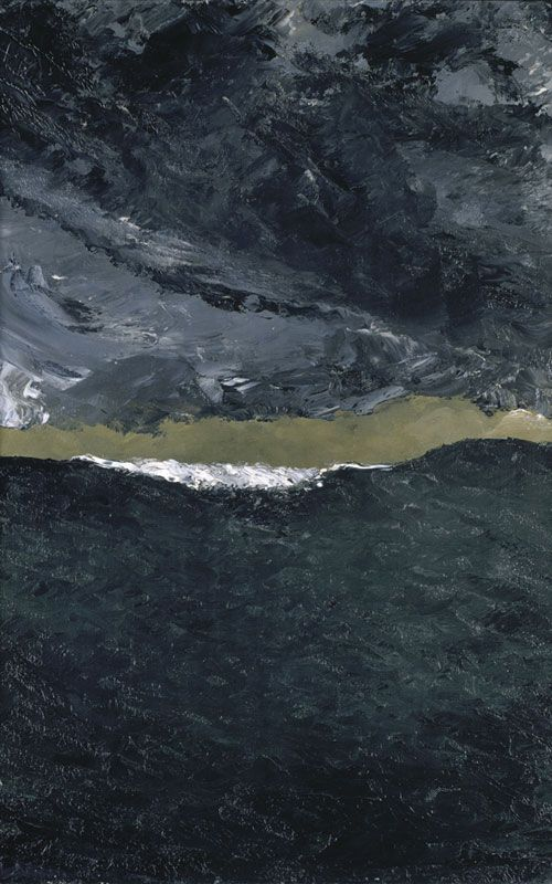 August Strindberg, Wave VII. Between 1900 and 1901. Oil on canvas, 57 x 36 cm.