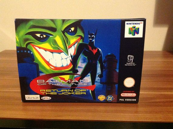 N64 Batman - Return of the Joker -  Pal Repro Box and Insert NO Game Included