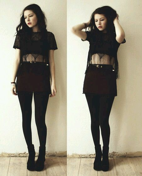 Black and red punk dress tumblr