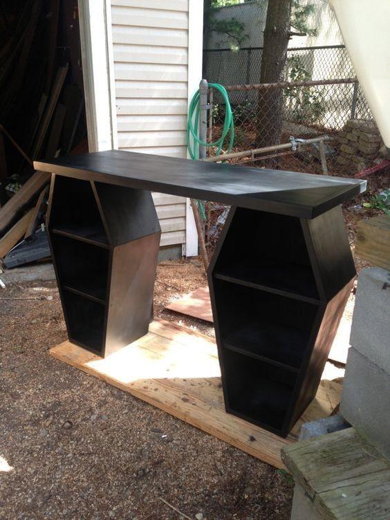 Interior Design Home Decor Accessories Furniture Desks Coffins Macabre Morbid
