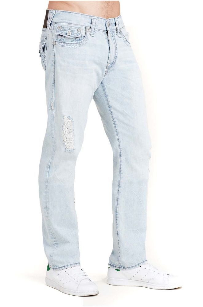 True Religion Men's Ricky Super T Flap Pocket Relaxed Straight Jean 34x33 NWT…