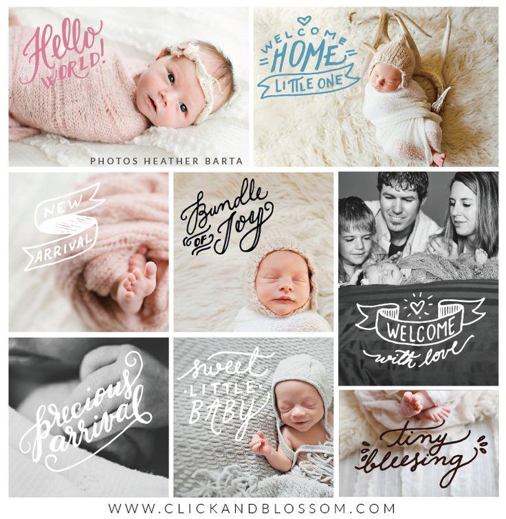 Photo Overlays - Welcome Baby Vol.1