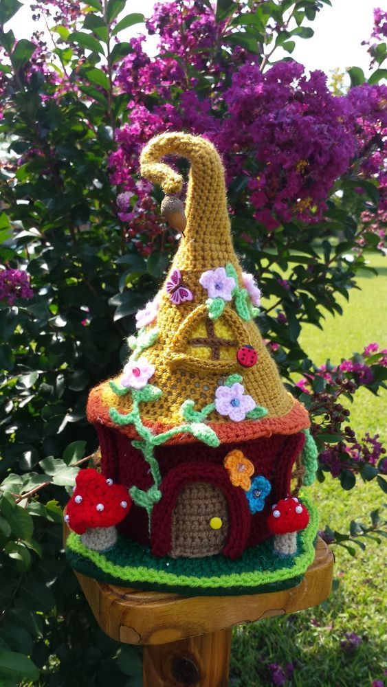 shoes Crochet play top to Home jordan Gnome Handmade Garden Fairy in     House Decor