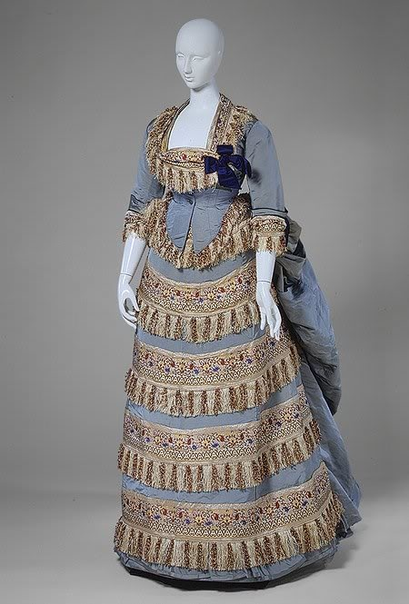 1872 House of Worth ball gown. One of the first fashion companies