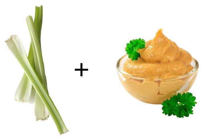 Sunflower-lentil spread on celery stalks  - Redbook.com