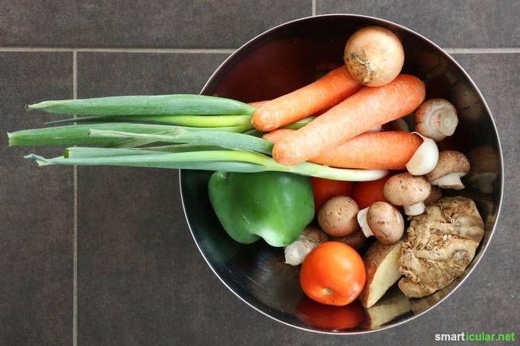 Gemüse-Brühpulver besteht oft zu weniger als fünf Prozent aus Gemüse. Dabei ist es ganz einfach ein Würzmittel aus frischem Gemüse selber herzustellen.