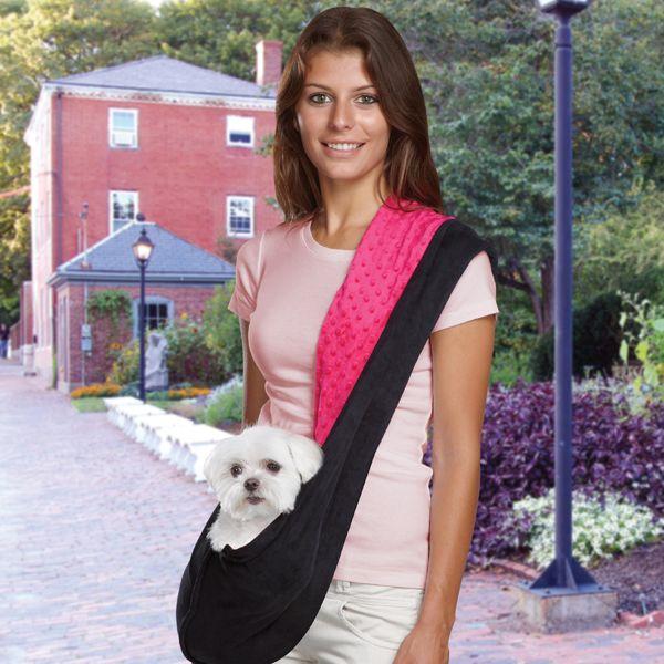 Reversible Sling Dog Carrier - Pink/Black at Baxterboo
