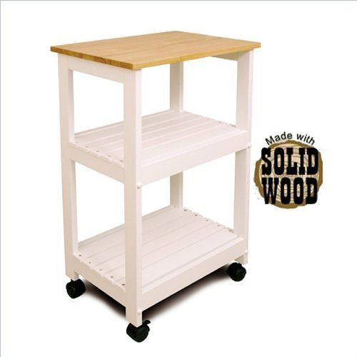 Utility Microwave / Butcher Block Cart by Catskill Craftsmen, Inc. - Utility Cart