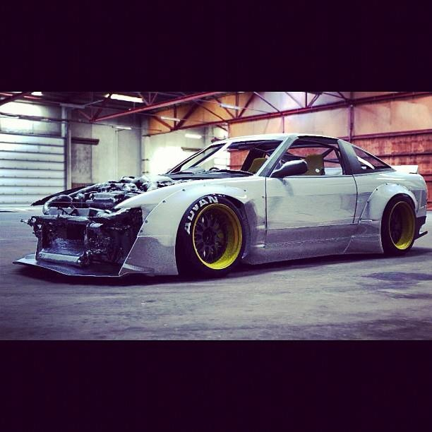 Nissan Silvia , 240 Sx, With A Wide Body Kit