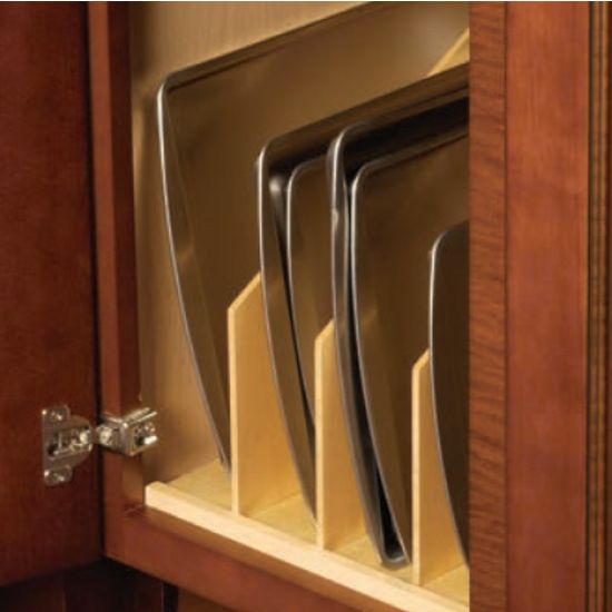 This Vertical Tray Divider By Hafele Comes In A Maple Finish And Is Great For Dividing Up Baking Sheets Platters Pans Lids Able Kitchen Ideas