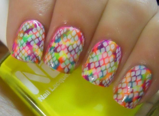 Neon Snakeskin Nails.: Snakeskin Nails, Nails Art, Cute Nails, Black And White, Rainbows Fish, Nails Nails Nails, Nails Polish, Holy Manicures, Neon Snakeskin