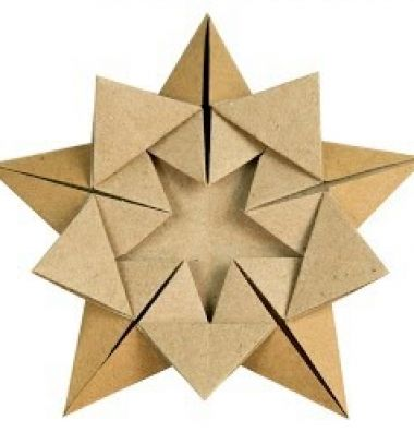 Easy DIY origami Christmas ornament star // Egyszerű origami karácsonyfadísz csillag papírból // Mindy - craft tutorial collection // #crafts #DIY #craftTutorial #tutorial #Origami #OrigamiModels #PaperFolding #PaperCrafts