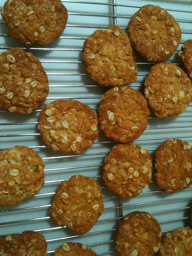Freshly baked ANZAC biscuits.... will there be any left for tomorrow?