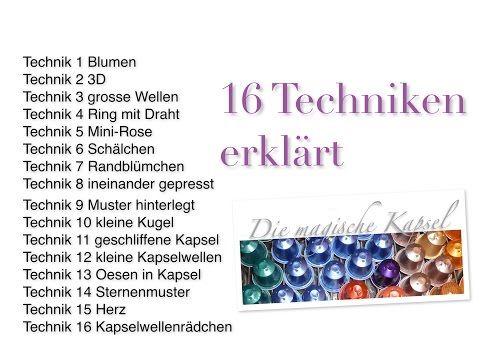 Kapsel Schmuck - 16 TECHNIKEN - die magische (Kaffee-) Kapsel - YouTube