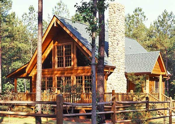 this looks like a great home i sure am dreaming of a log cabin or - Great Home Designs