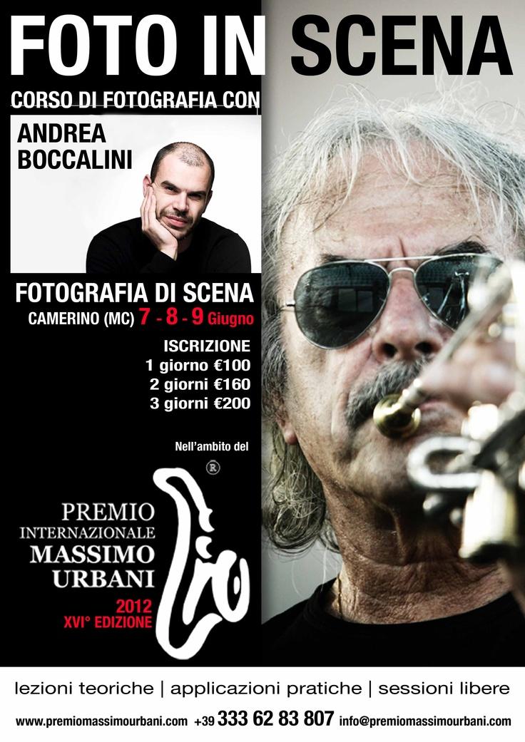 Corso di Fotografia con Andrea Boccalini nell'ambito del Premio Massimo Urbani  http://www.premiomassimourbani.com/foto-in-scena-corso-di-fotografia/