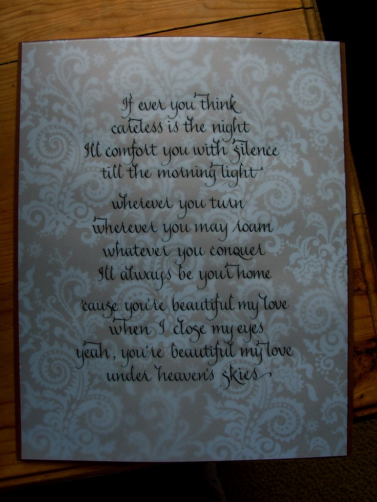Under Heavens Skies - Collective Soul ---my wedding song :) :)