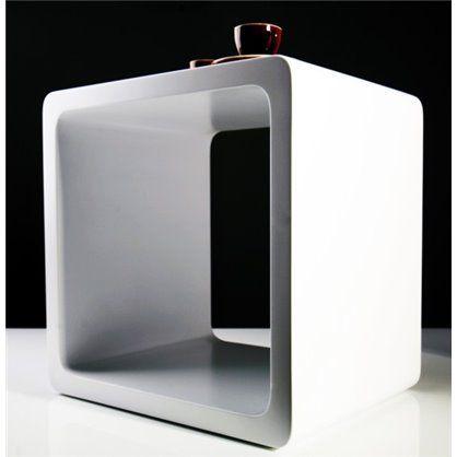 Stolik-regał Lounge Cube white, kare design