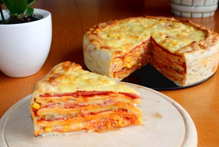 Pizzatorta recept