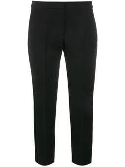 укороченные строгие брюки