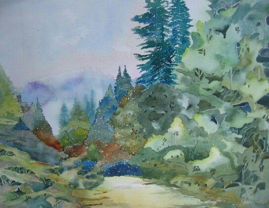 Wandeling naar het bos