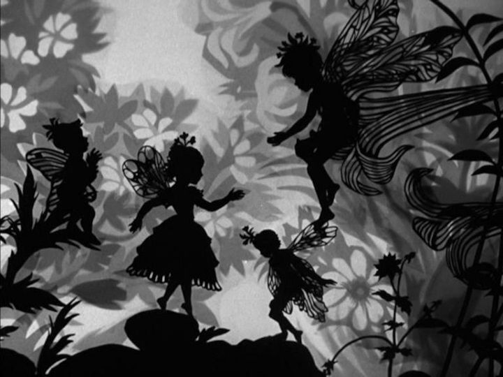Scene from an early animated fairy tale by Lotte Reiniger, master German silhouette artist - her films are so amazing - look her up on Youtube!
