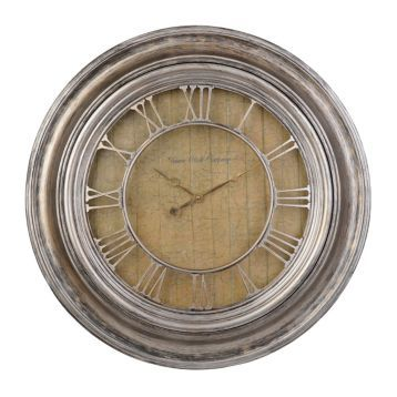 Geneva Antique Silver Wall Clock