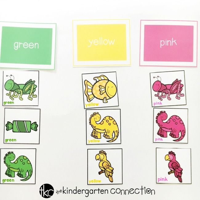 Free Printable Color Sorting Activity for Preschool and