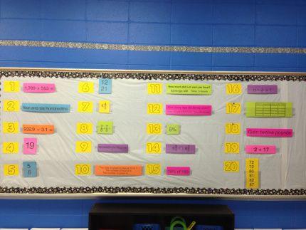 Mountain Math bulletin board-6th grade