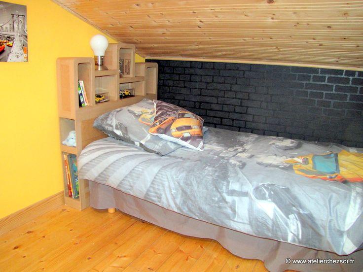Sortie du nouveau patron de meuble en carton t te de lit for Atelier du meuble rustique